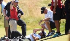 Неприятен инцидент - голфър припадна на US Open